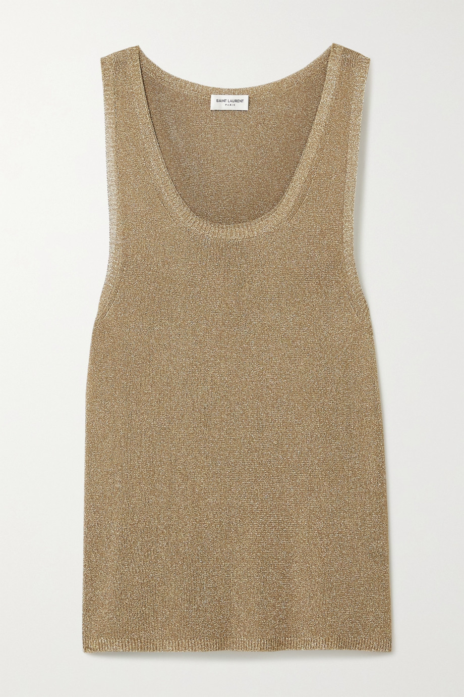 SAINT LAURENT Metallic knitted tank