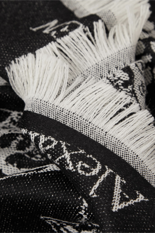 Alexander McQueen Fringed wool-jacquard scarf