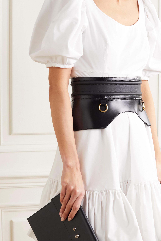 Alexander McQueen Embellished leather corset belt