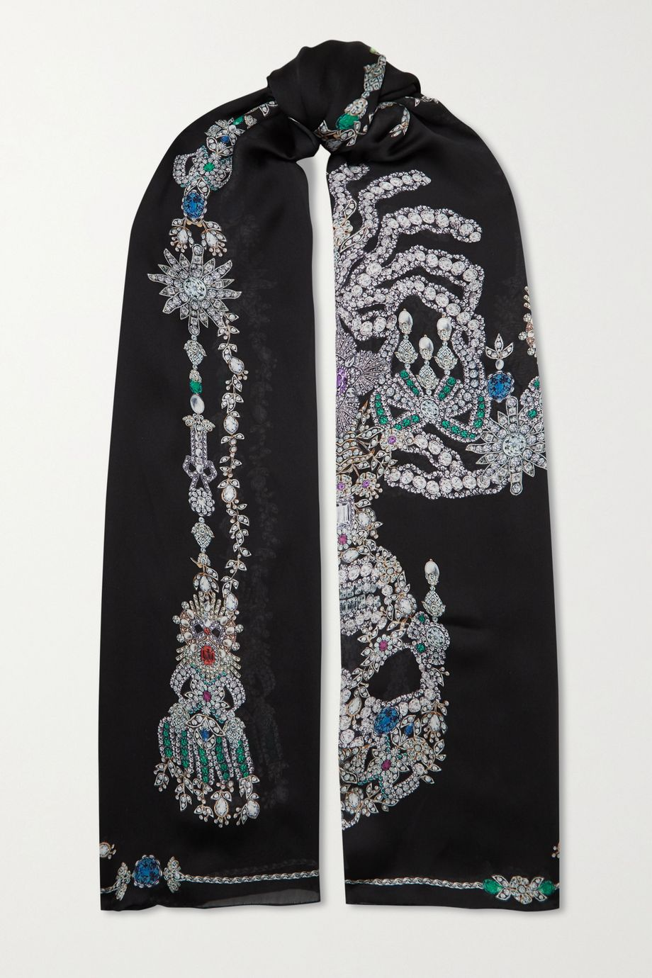 Alexander McQueen Treasure printed silk scarf
