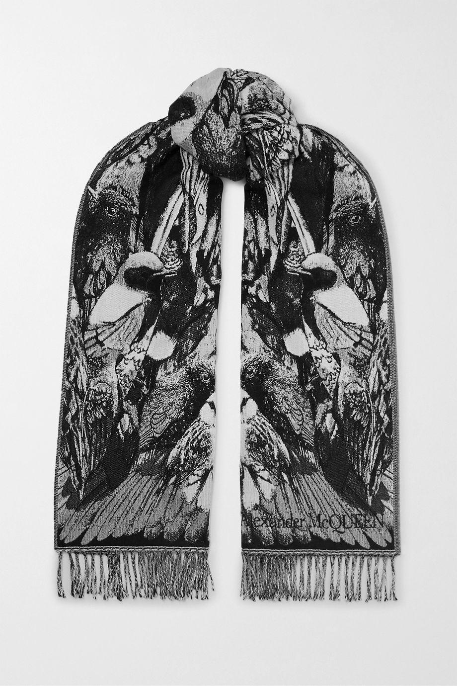 Alexander McQueen Écharpe en laine intarsia