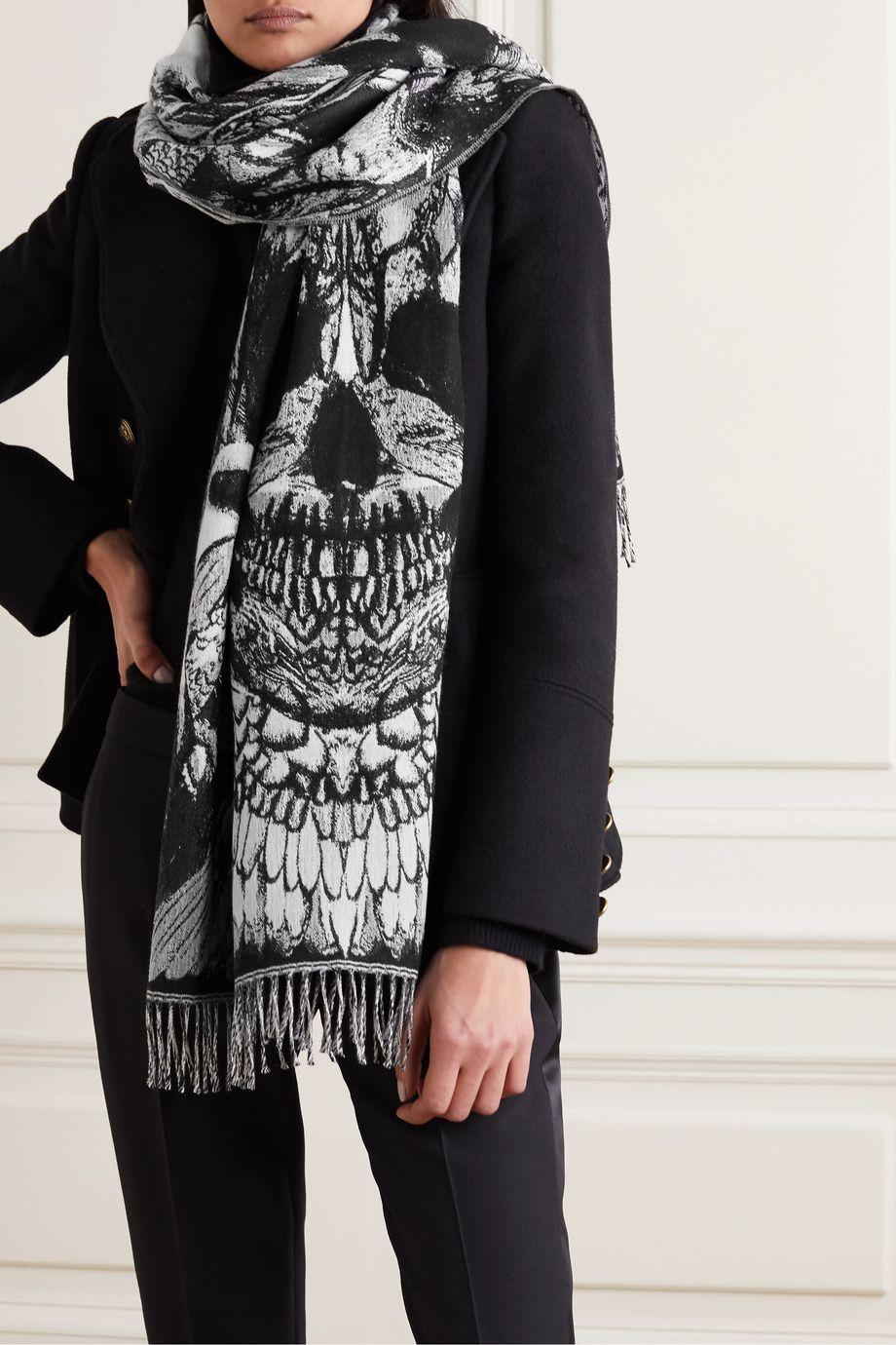 Alexander McQueen Intarsia wool scarf