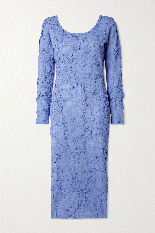 Crinkled-chiffon midi dress