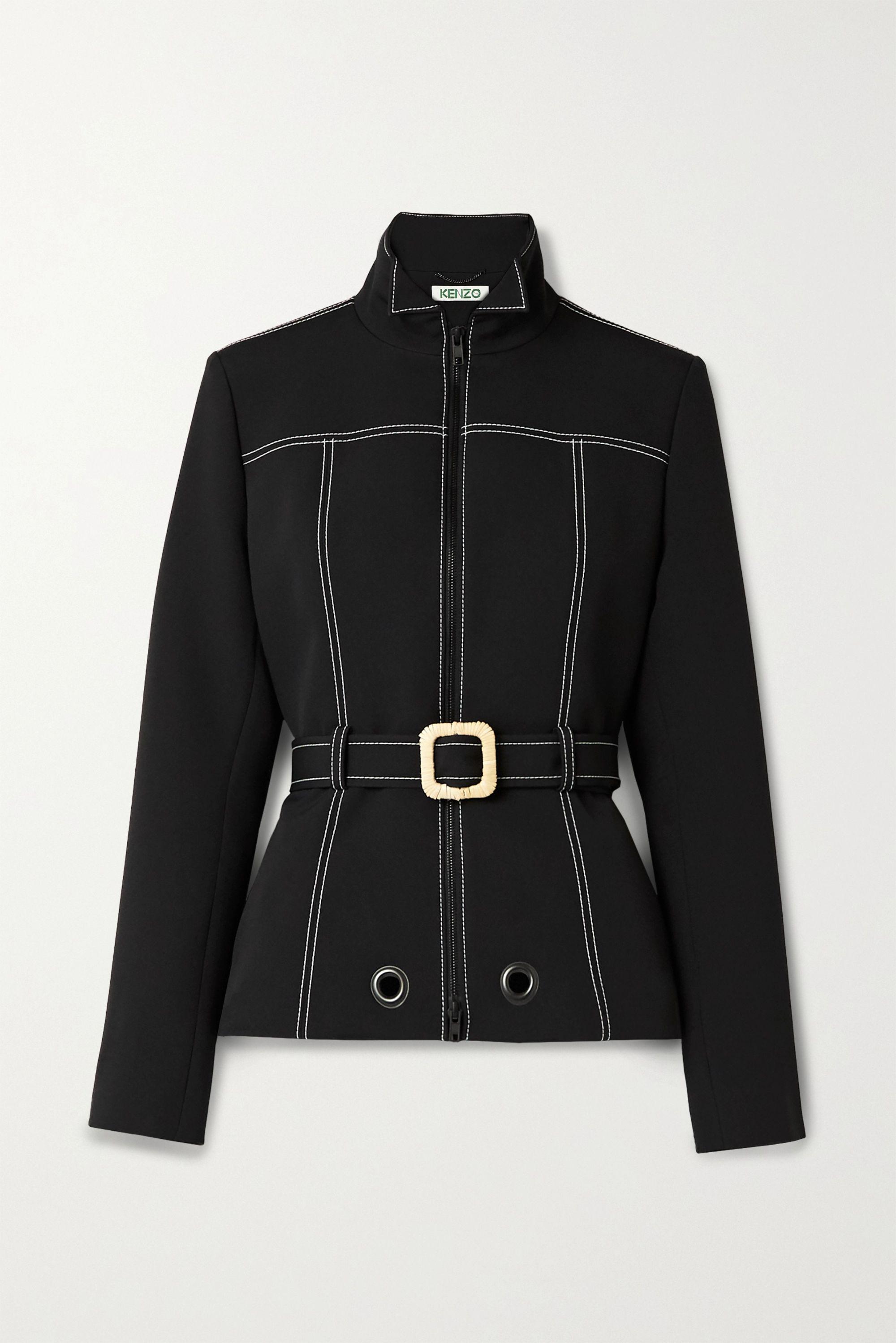 Belted scuba jacket