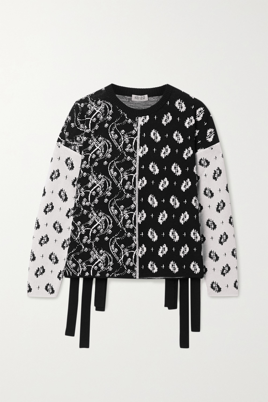 Patchwork jacquard sweater