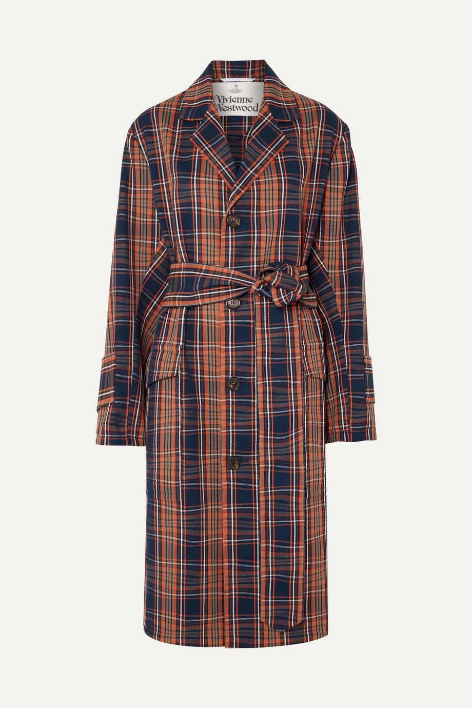 Vivienne Westwood Ophelia checked cotton-twill trench coat