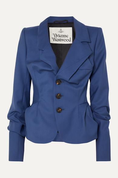 Vivienne Westwood - Gathered Wool Blazer - Blue