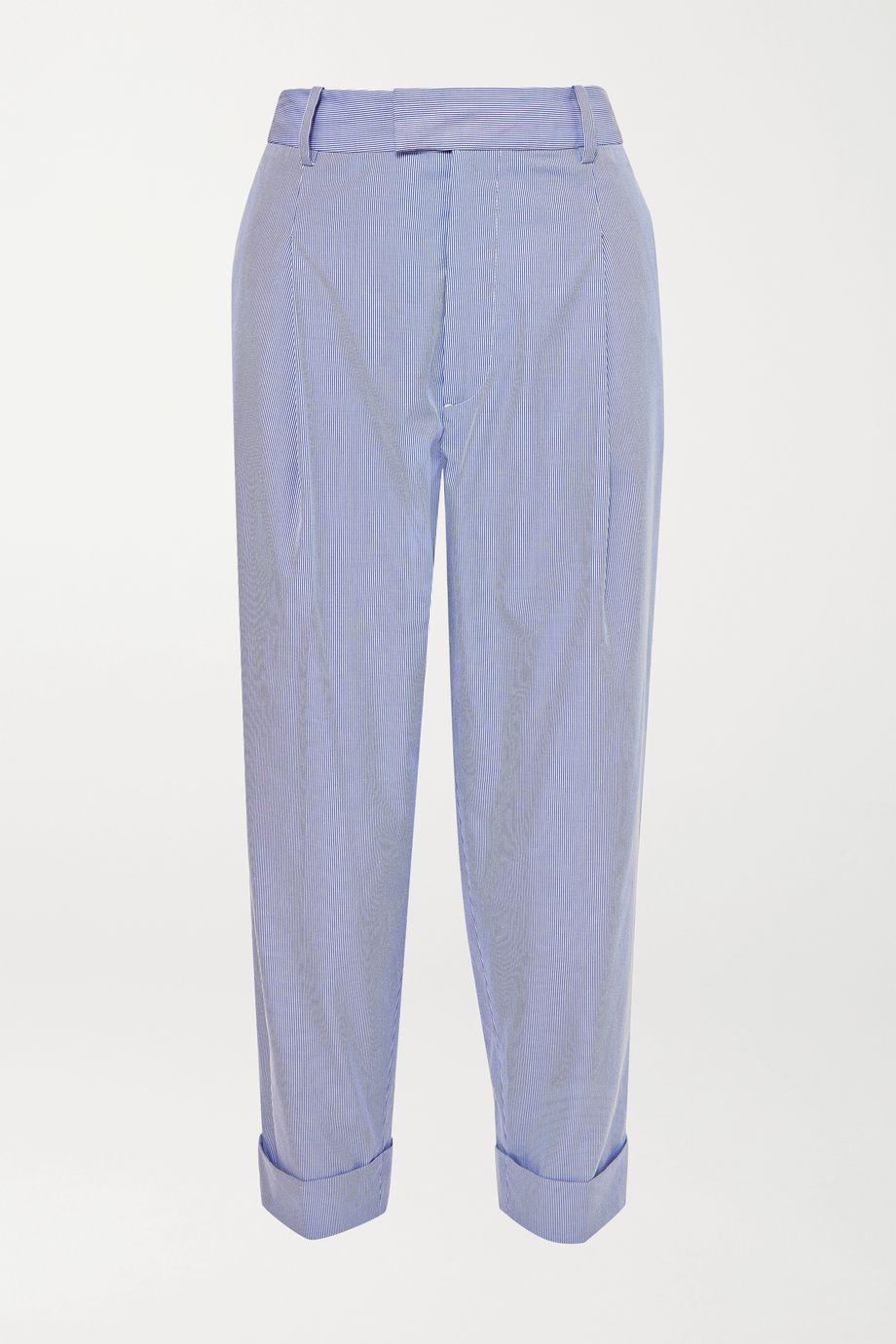 Vivienne Westwood Dave 细条纹棉质混纺直筒裤