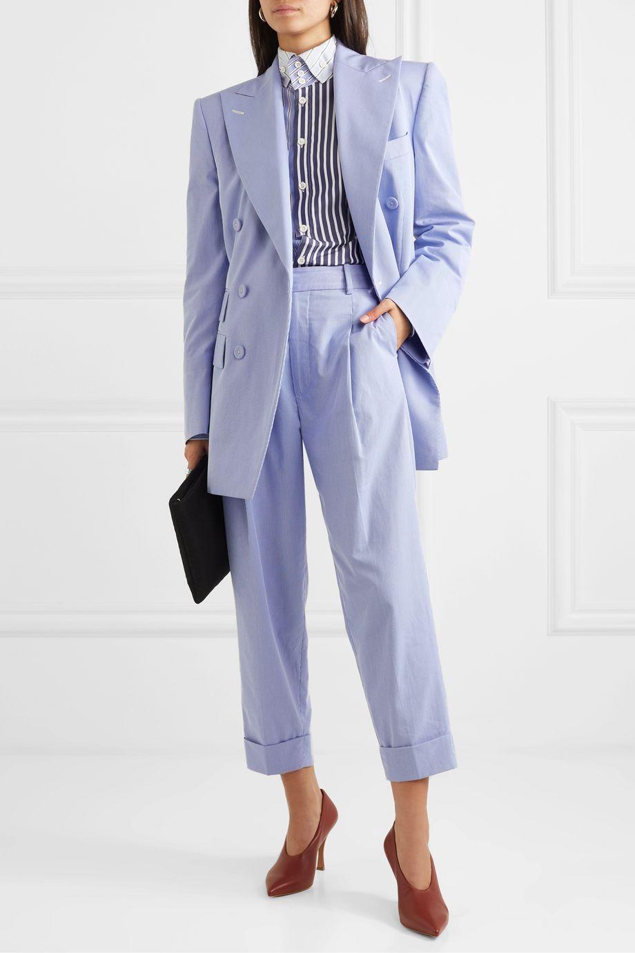 Vivienne Westwood Dave pinstriped cotton-blend straight-leg pants