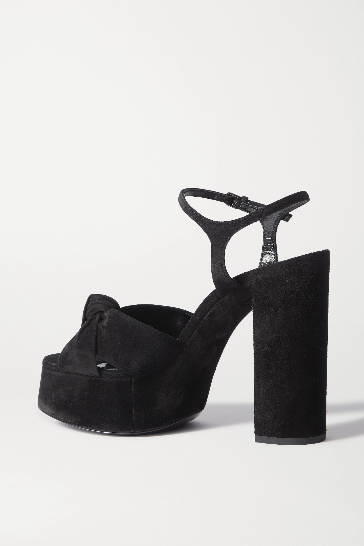 SAINT LAURENT Bianca suede platform sandals