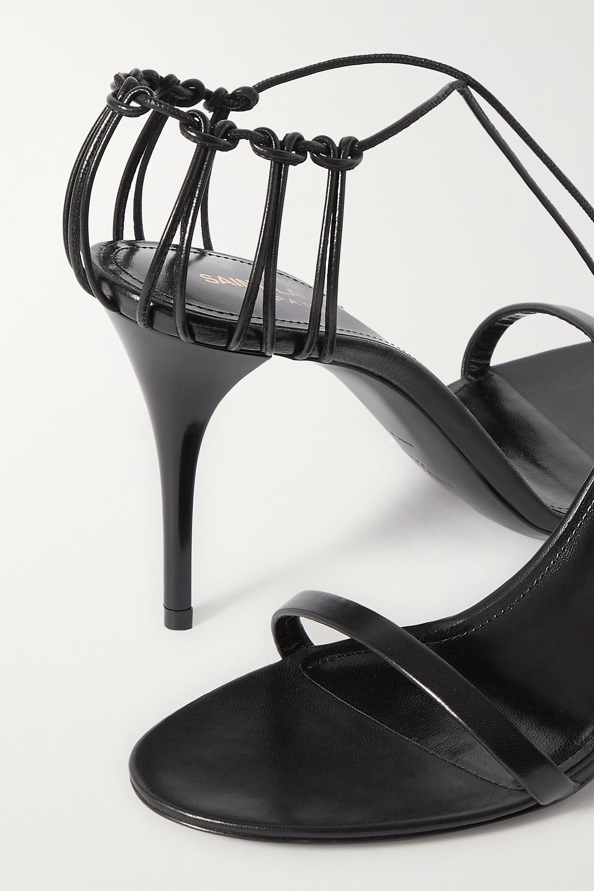SAINT LAURENT Lexi lace-up leather sandals