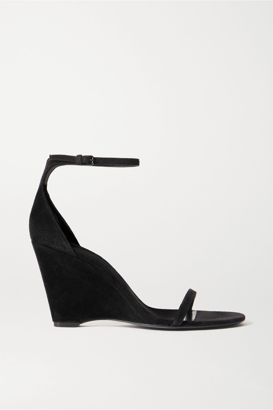 SAINT LAURENT Bianca Wedges aus Veloursleder