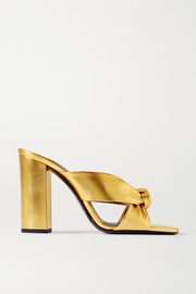 LouLou knotted metallic leather sandals