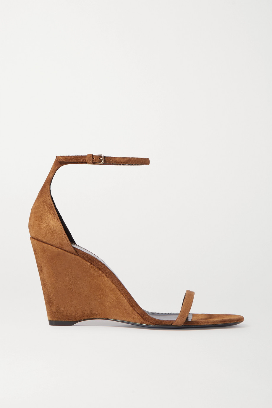 SAINT LAURENT Bianca suede wedge sandals