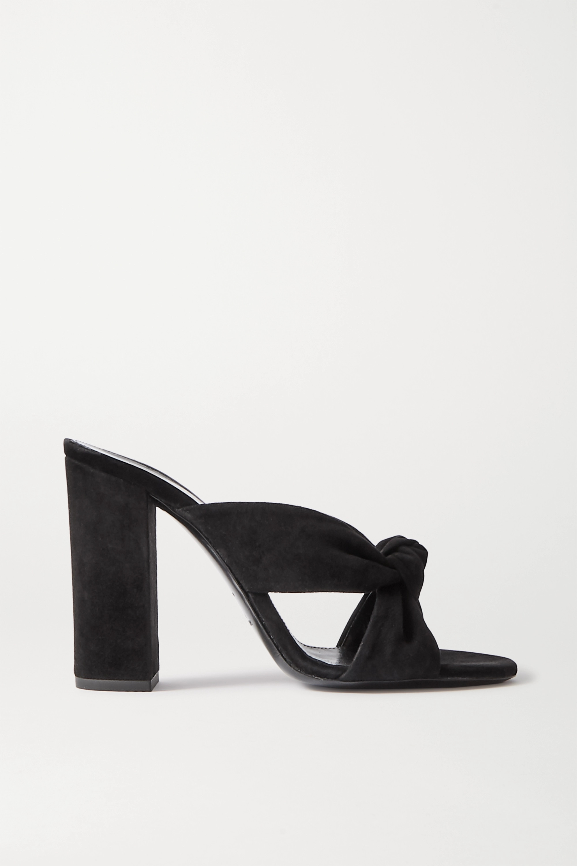 SAINT LAURENT Bianca knotted suede mules