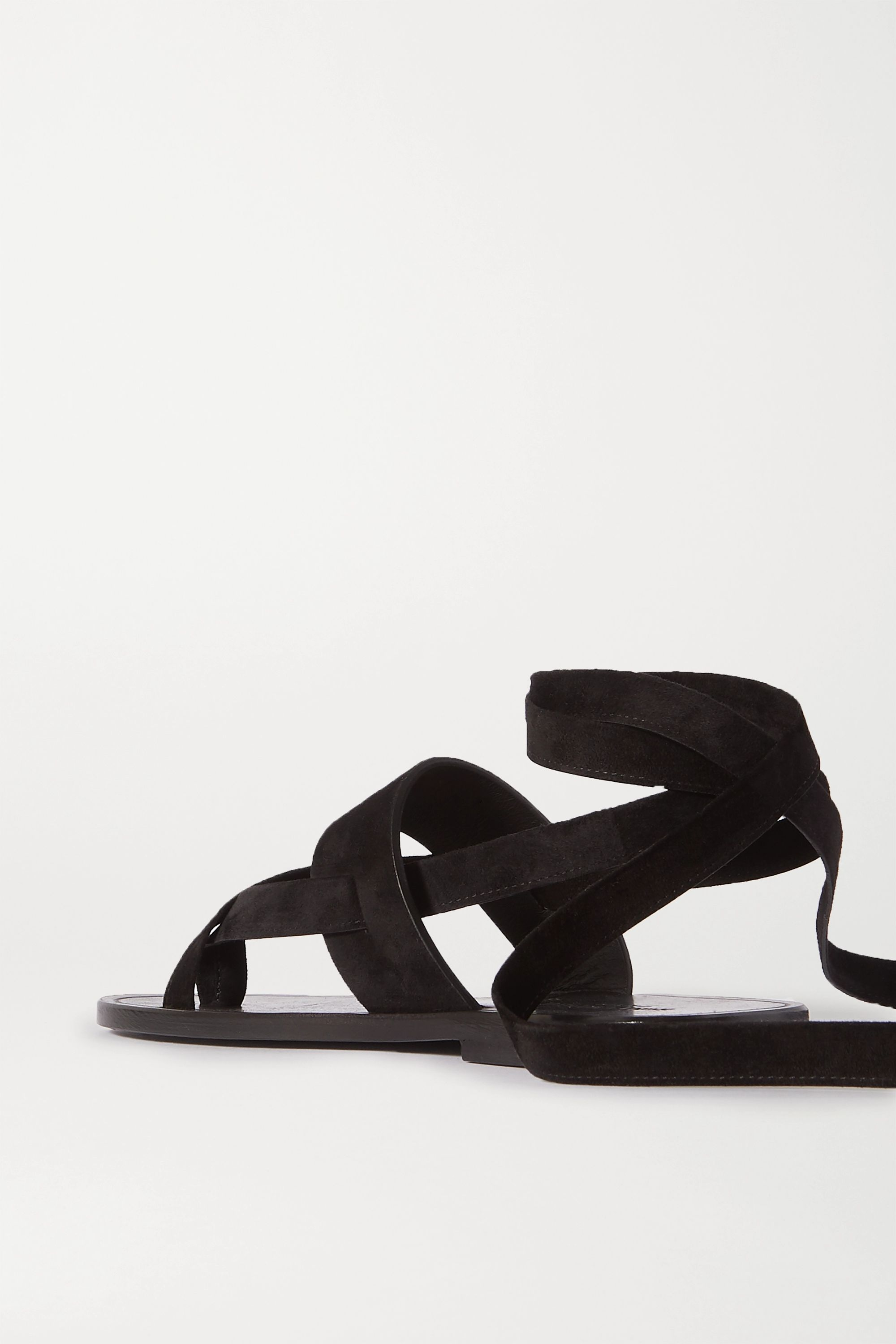 SAINT LAURENT Culver Nu Pieds suede sandals