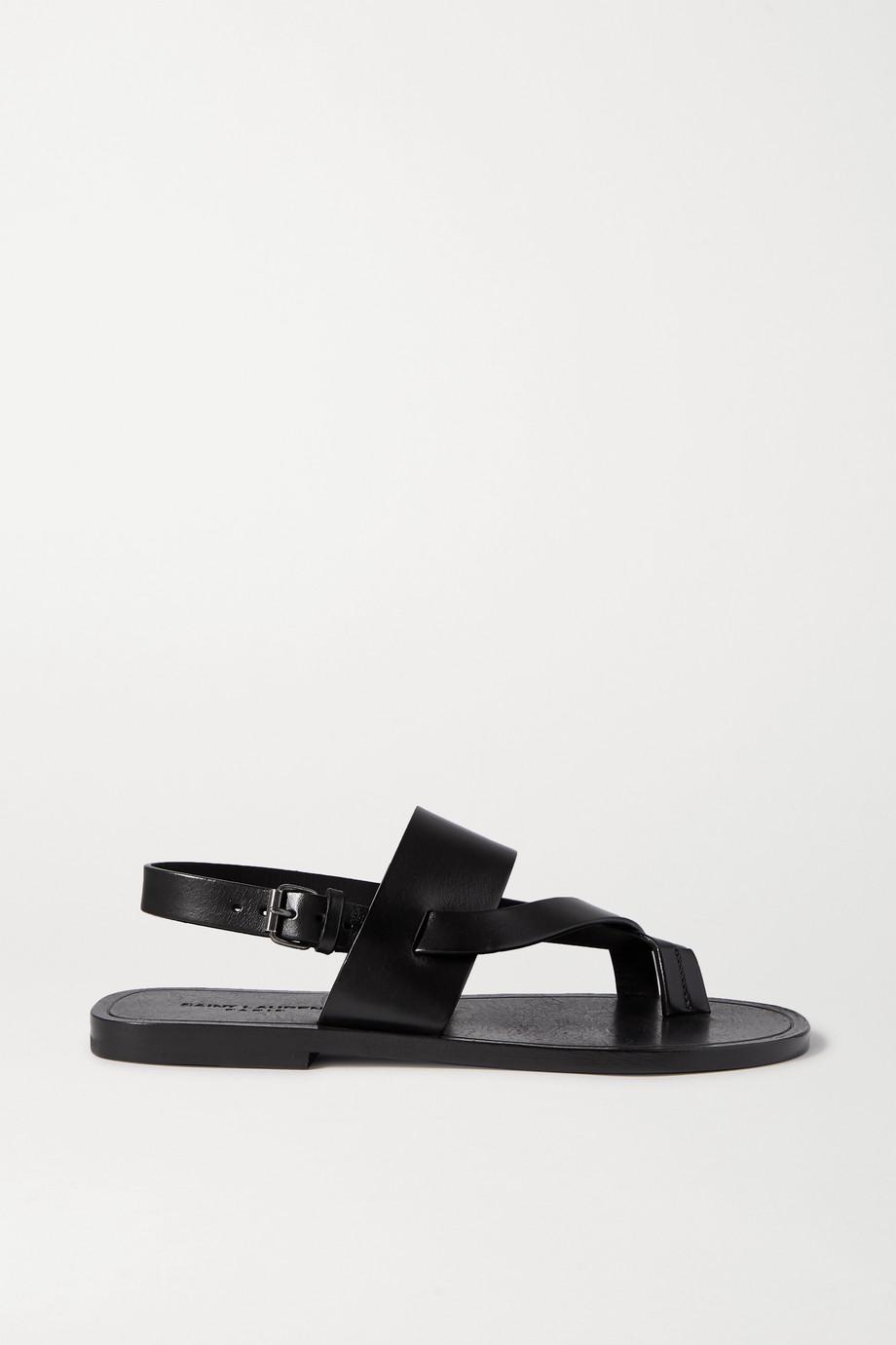 SAINT LAURENT Culver Nu Pieds leather sandals
