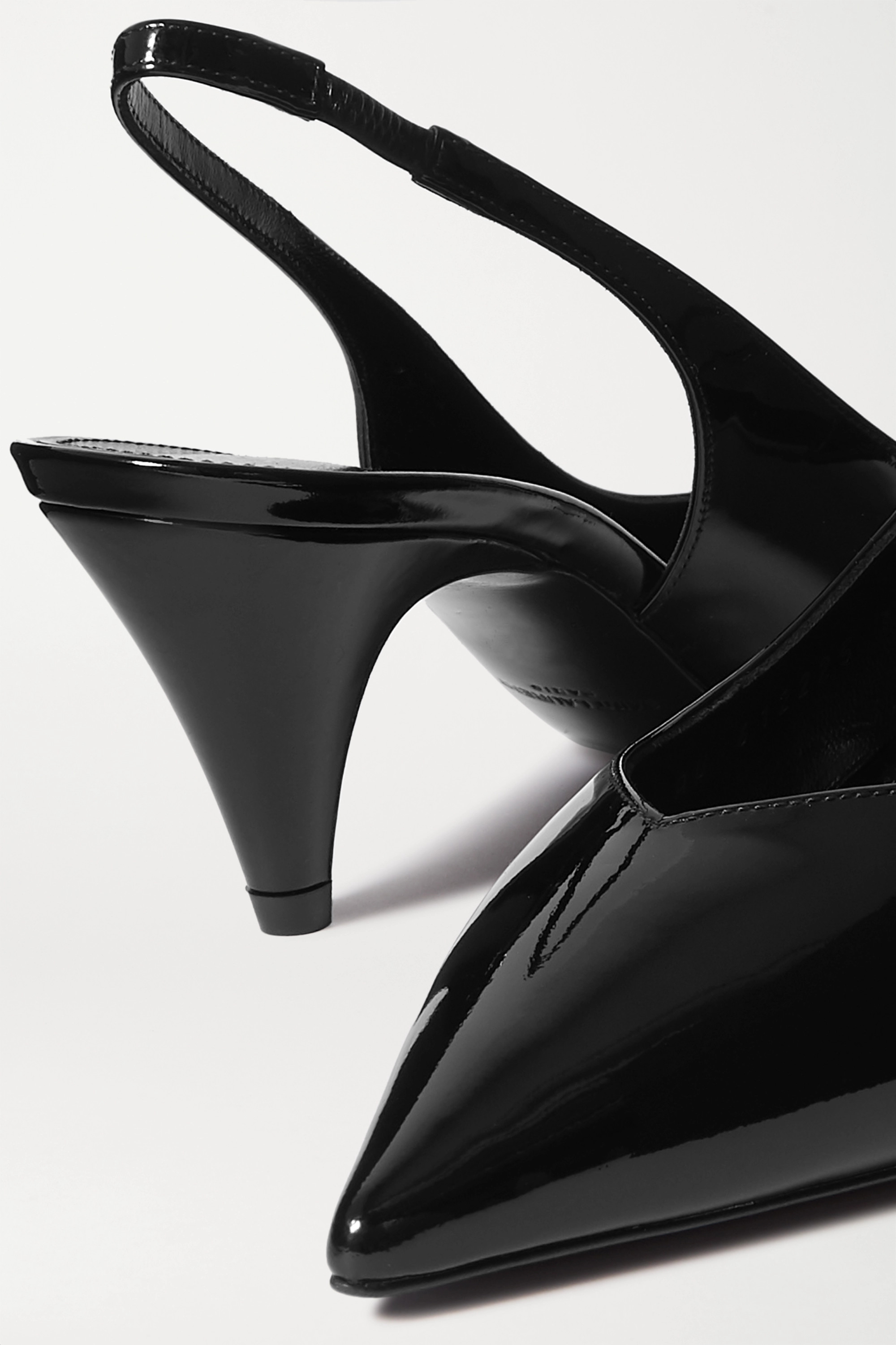 SAINT LAURENT Kiki Slingback-Pumps aus Lackleder