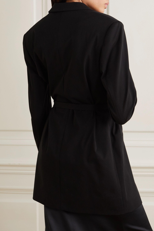 La Collection Blazer en crêpe de coton mélangé à ceinture Francine