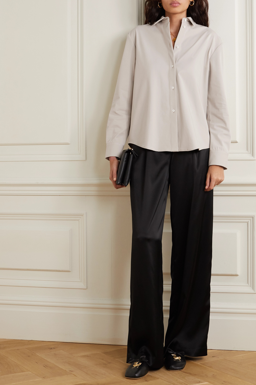La Collection Emelia oversized cotton-blend twill shirt