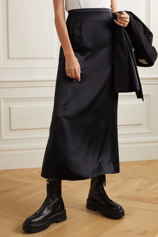 La Collection Aphrodite silk-satin midi skirt