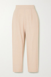 Luela cropped linen-blend tapered pants