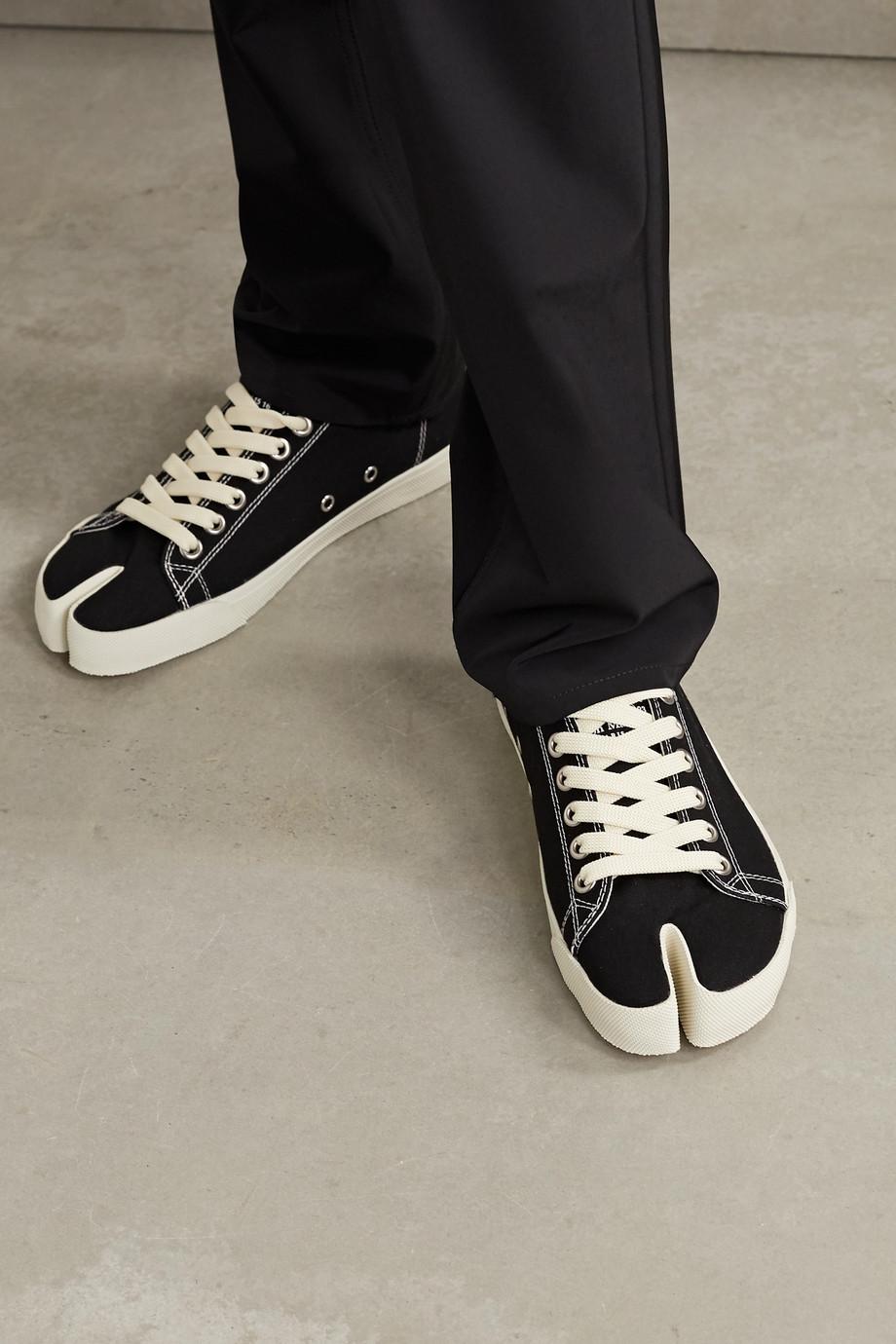 Maison Margiela Split-toe logo-print canvas sneakers