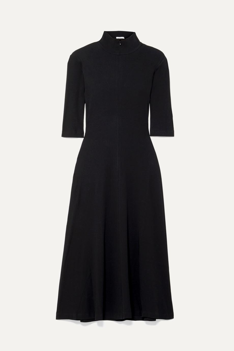Rosetta Getty Stretch-cotton jersey turtleneck dress