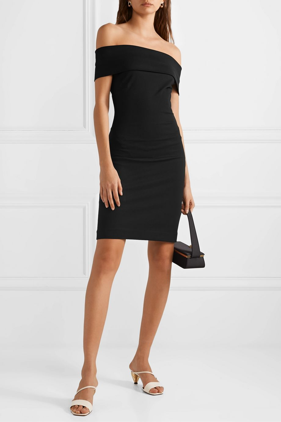 Rosetta Getty Off-the-shoulder stretch-jersey dress
