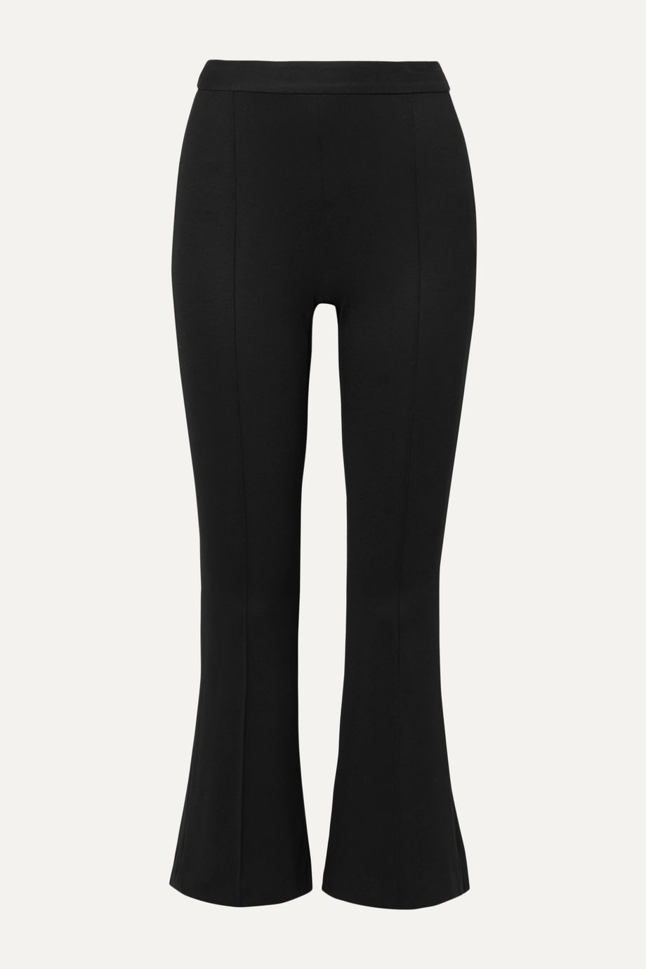 Rosetta Getty Cropped stretch-jersey flared pants