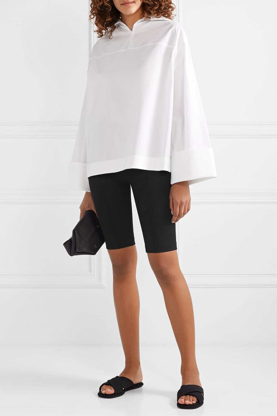 Rosetta Getty Stretch-ponte shorts