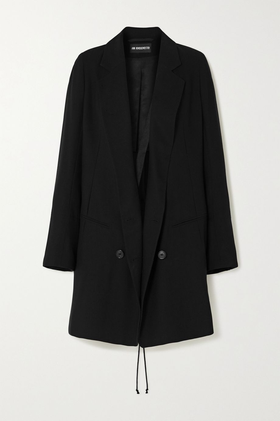 Ann Demeulemeester Double-breasted lace-up wool-twill blazer