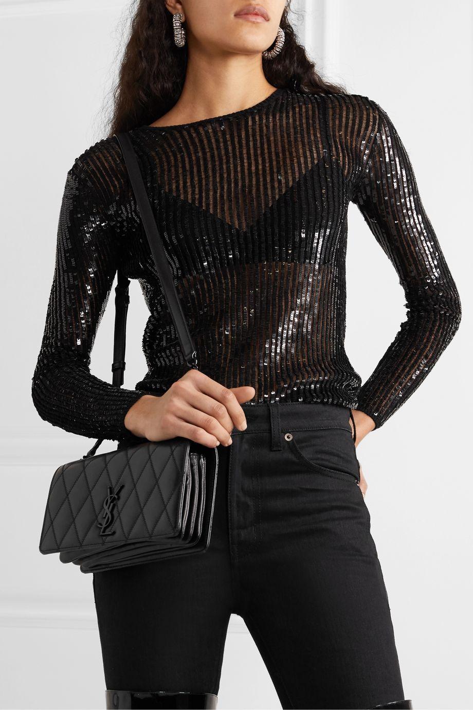 SAINT LAURENT Angie quilted leather shoulder bag