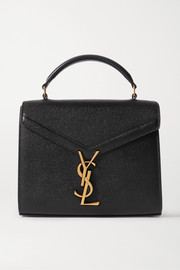 SAINT LAURENT Cassandra mini textured-leather tote