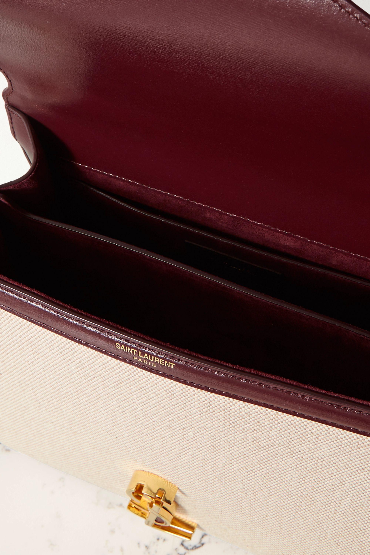 SAINT LAURENT Cassandra medium leather-trimmed canvas tote