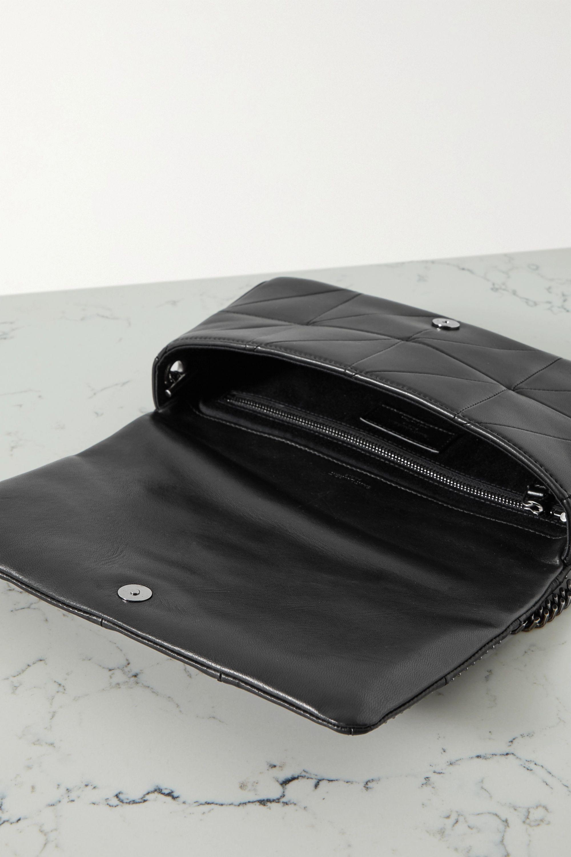 SAINT LAURENT Jamie studded paneled leather shoulder bag