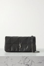 SAINT LAURENT Jamie studded paneled leather shoulder bag