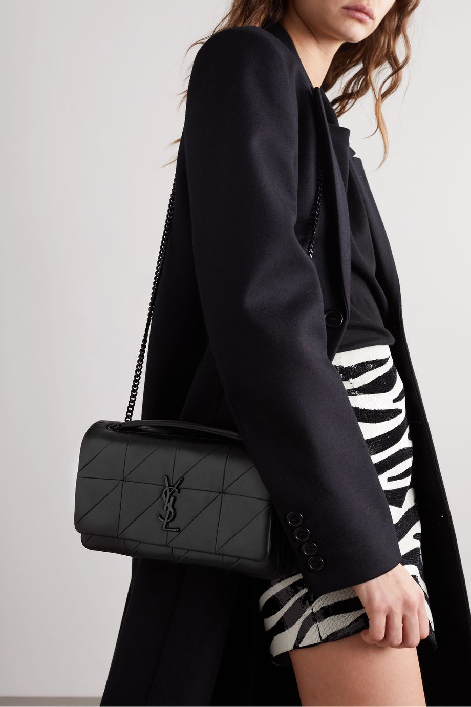 SAINT LAURENT Jamie medium paneled leather shoulder bag