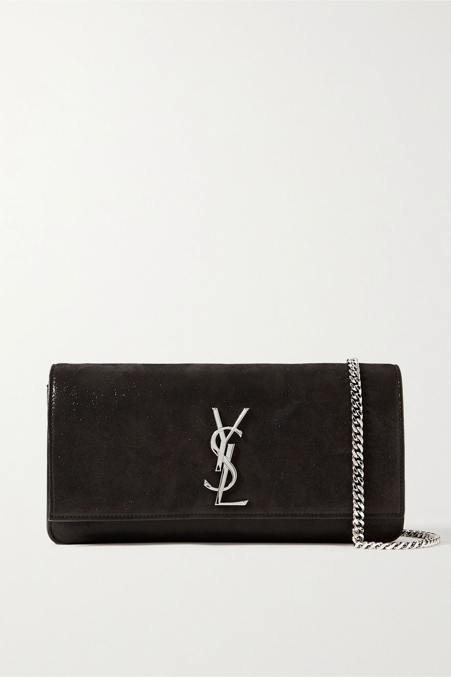 SAINT LAURENT Kate Schultertasche aus Veloursleder mit Glitter-Finish