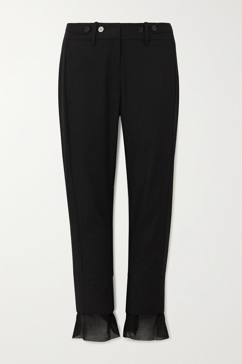 Ann Demeulemeester Cotton and cashmere-blend slim-leg pants