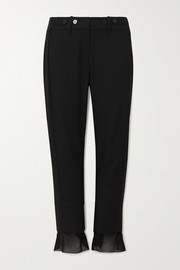 Ann Demeulemeester Cotton and cashmere-blend slim-leg pants