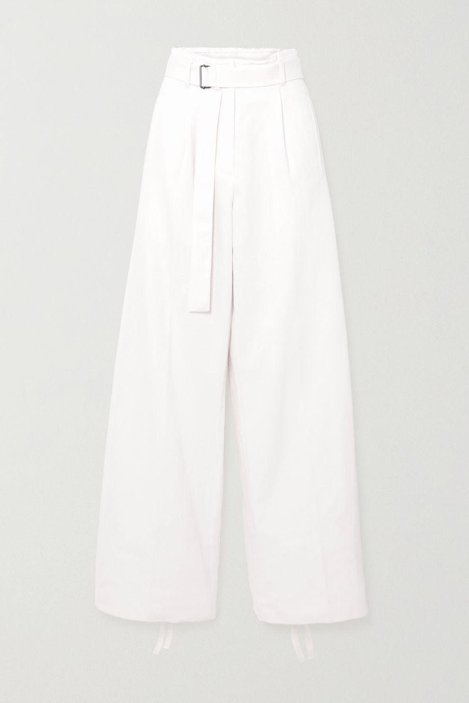 Ann Demeulemeester Hose aus Twill aus einer Baumwoll-Leinenmischung