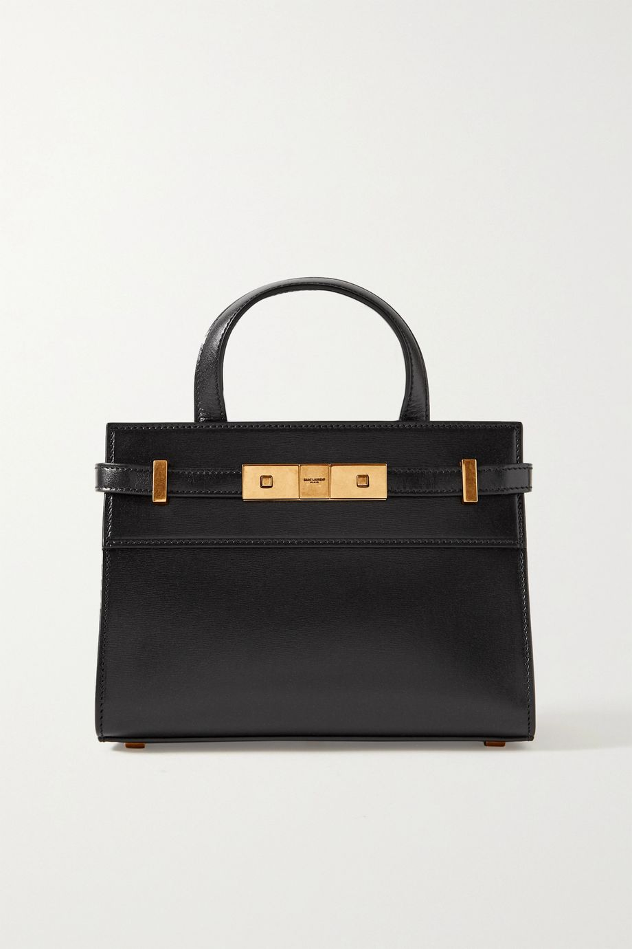 SAINT LAURENT Manhattan micro leather tote