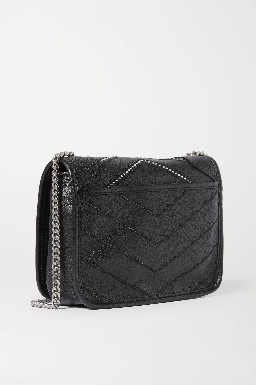 SAINT LAURENT Niki mini studded quilted textured-leather shoulder bag