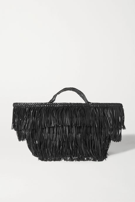 Black Panier fringed leather tote | SAINT LAURENT izjqRF