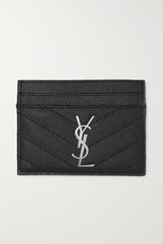 SAINT LAURENT Monogramme 绗缝纹理皮革卡夹