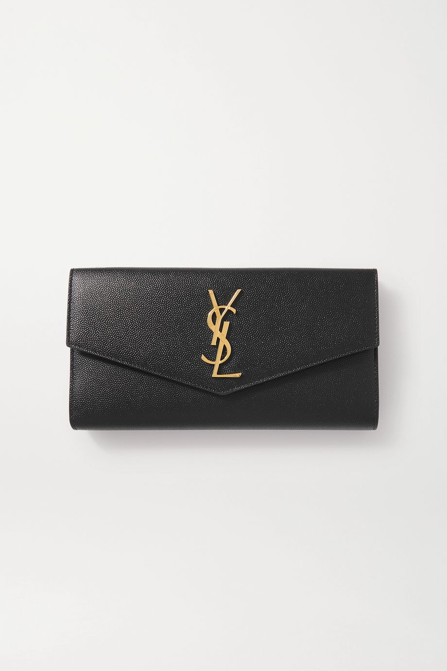 SAINT LAURENT Uptown textured-leather wallet