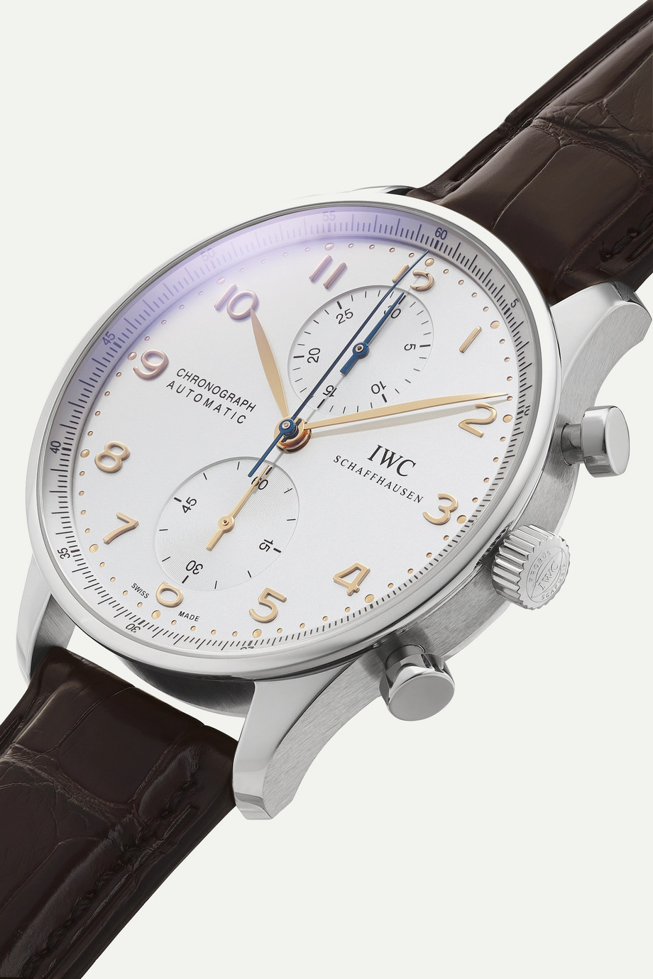 IWC SCHAFFHAUSEN Portugieser Chronograph Automatic 40.9mm stainless steel and alligator watch