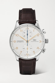 Portugieser Chronograph Automatic 40.9mm stainless steel and alligator watch