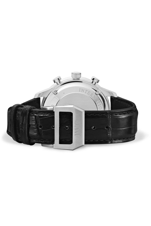 IWC SCHAFFHAUSEN Montre en acier inoxydable à bracelet en alligator Portugieser Chronograph Automatic 41 mm      mm